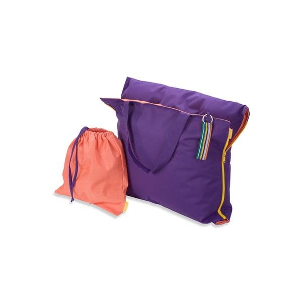 Skladacie ležadlo Hhooboz 150x62 cm, fialové
