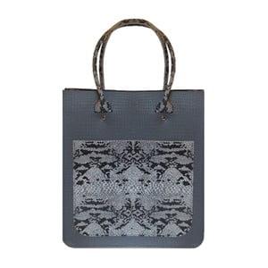 Sivá kožená kabelka Brix + Bailey