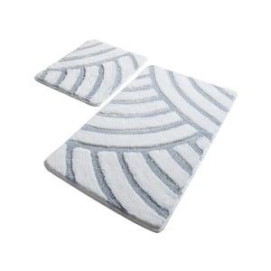 Sada 2 bielych kúpeľňových predložiek Confetti Bathmats Alya White
