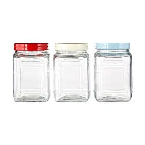 Sada 3 sklenených dóz Premier Housewares, 750 ml