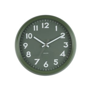 Zelené hodiny Present Time Badge