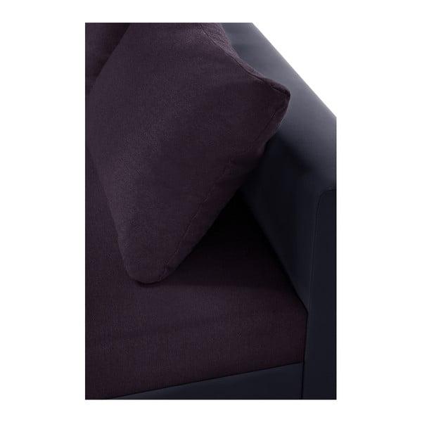 Fialová rohová pohovka s lôžkom na pravej strane Interieur De Famille Paris Aventure