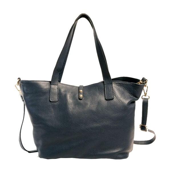 Tmavomodrá kabelka z pravej kože Andrea Cardone Matteo