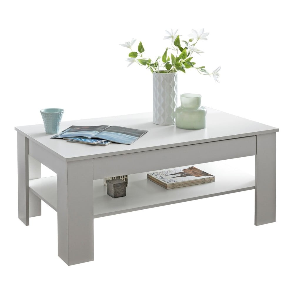 Biely konferenčný stôl Skyport Wohnling Connie, výška 65 cm