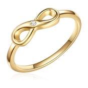 Strieborný pozlátený prsteň s pravým diamantom Tess Diamonds Emmy, veľ.52