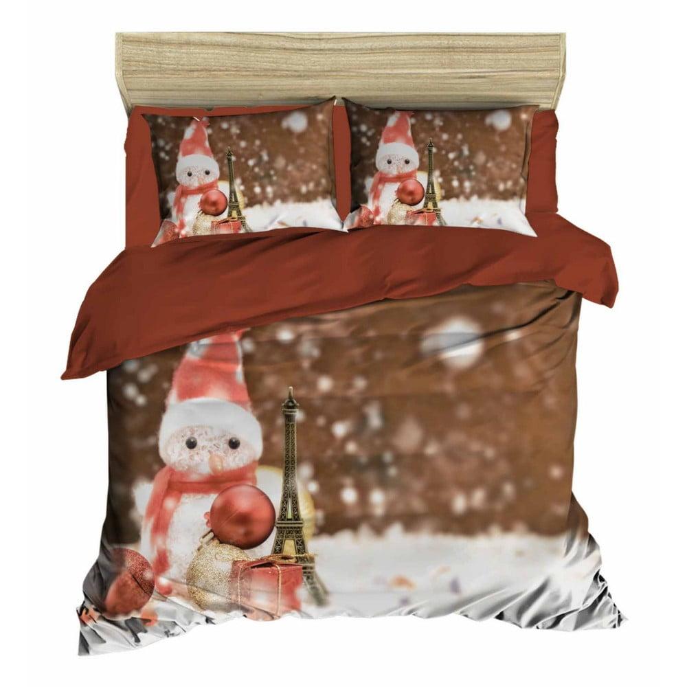 Vianočné obliečky na dvojlôžko s plachtou Matteo, 160×220 cm