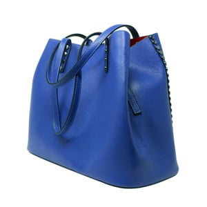 Modrá kožená kabelka Maison Bag Milú