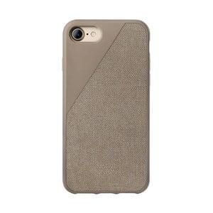 Béžový obal na mobilný telefón pre iPhone 7 a 8 Native Union Clic Canvas Case