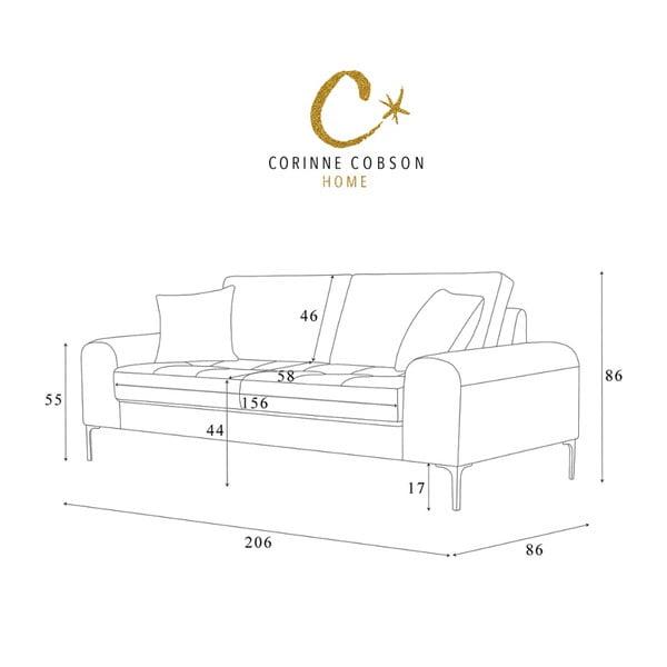 Sivá trojmiestna pohovka Corinne Cobson Home Dillinger