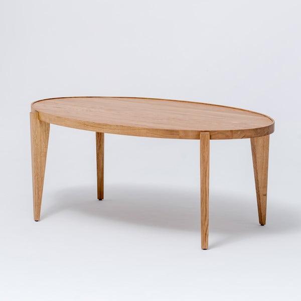 Dubový kávový stolík Bontri, 120x44 cm