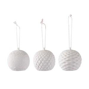 Sada 3 závesných dekorácií s LED svetielkami Villa Collection Balls