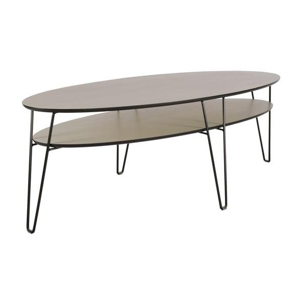 Konferenčný stolík s čiernymi nohami RGE Leon, šírka 150 cm