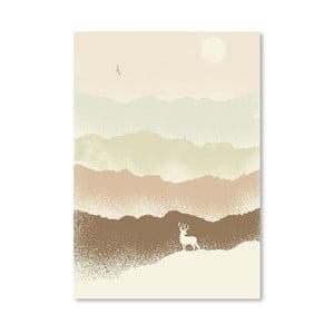 Plagát Deer Mountain od Florenta Bodart, 30x42 cm