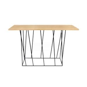 Konzolový stolík s čiernymi nohami TemaHome Helix