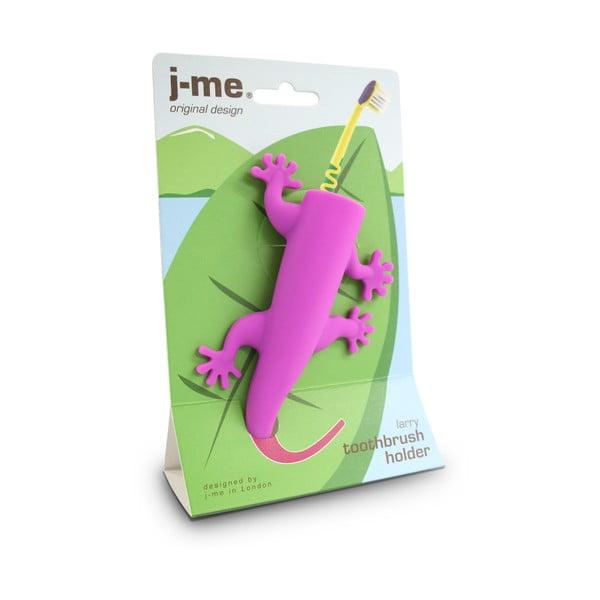 Ružový držiak na zubné kefky J-Me Larry