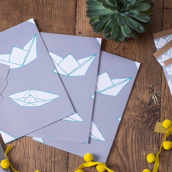 Baliaci papier Boats, 3 listy