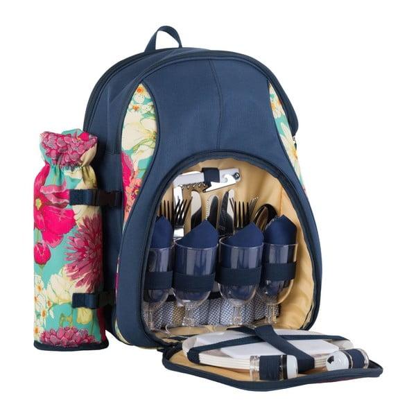 Piknikový batoh Floral pre 4 osoby