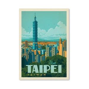 Plagát Americanflat Taipei, 42 x 30 cm