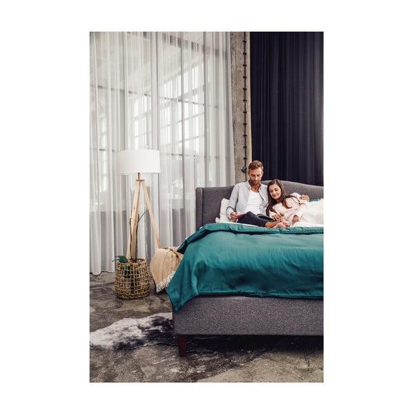Antracitovosivá dvojlôžková posteľ Chez Ro Hobro, 180×200 cm