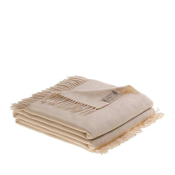 Vlnená prikrývka Bisanzio 130x180 cm, krémová