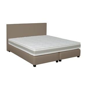 Sivo-béžová boxspring posteľ Revor Deco, 180 x 200 cm