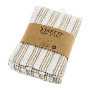 Sada 4 béžových bavlnených utierok Tiseco Home Studio, 50 × 70 cm