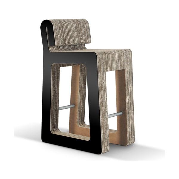 Barová kartónová stolička Hook Stool Black