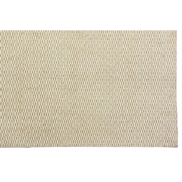 Vlnený koberec Flat, 160x230 cm, béžový