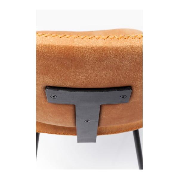 Sada 4 oranžových jedálenských stoličiek Kare Design Barber