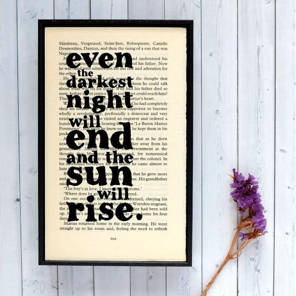 Plagát v drevenom ráme Les Misérables Sun Les Misérables Sun