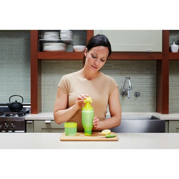 Fľaša na vodu s citrónom Zingo Green