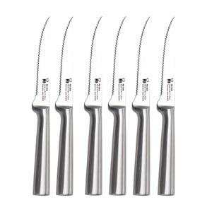 Sada 6 strieborných steakových nožov Bergner