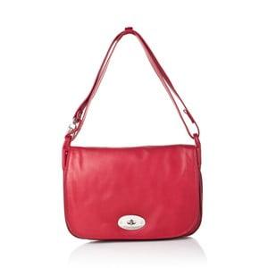 Červená kožená kabelka Gianni Conti Adelia
