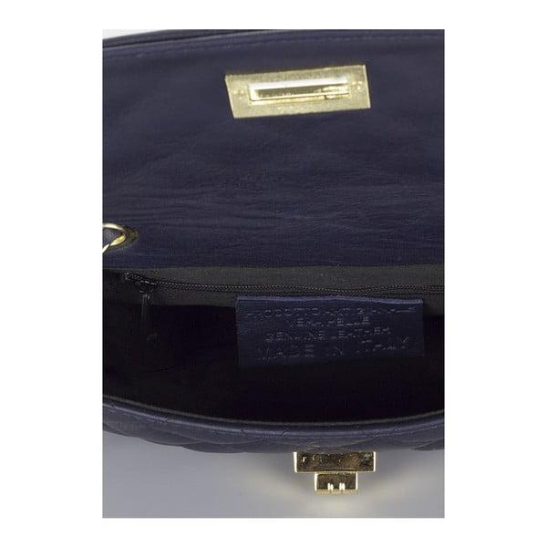 Tmavomodrá kožená kabelka Giulia Massari Phaedra