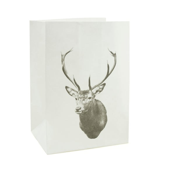 Sada 2 papierových obalov na sviečku Deer