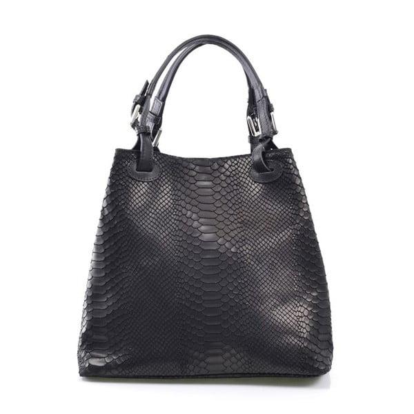 Kožená kabelka Ingrid, čierna