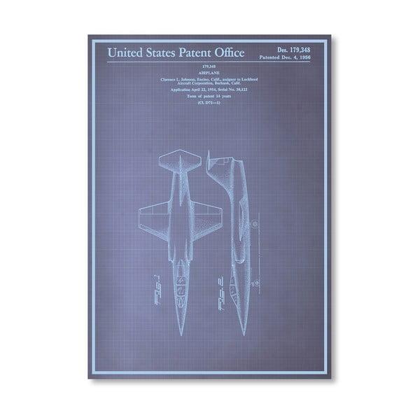 Plagát Airplane, 30x42 cm