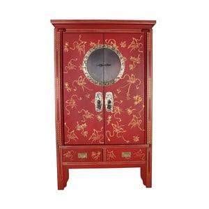 Červená čínska skriňa z topoľového dreva SOB