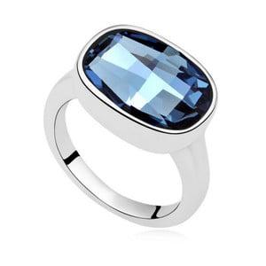 Prsteň s modrým krištáľom Swarovski Uranium, veľkosť 52