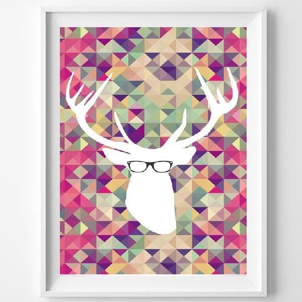 Plagát Smart Deer, A3