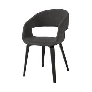 Tmavosivá jedálenská stolička Interstil Nova