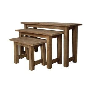 Sada 3 lavíc z teakového dreva HSM Collection Bali