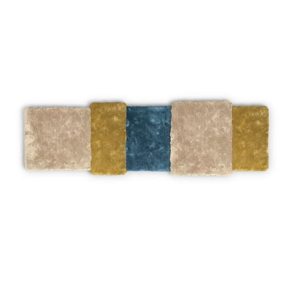 Koberec Over Stripe Emko, žltý/modrý