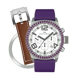 Dámske hodinky Marc Coblen s remienkom a ozdobou ciferníku naviac P4