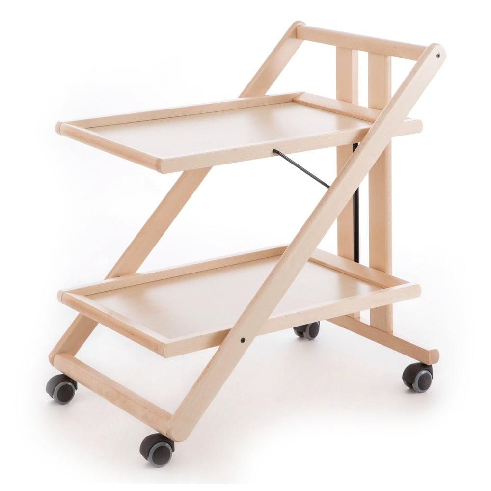 Servirovaci stolik z dreva na kolieskach for Sme arredamenti