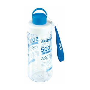 Modrá fľaša na vodu Snips Decorated, 500 ml