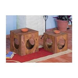 Stolička z palisandrového dreva SOB Margao Cube
