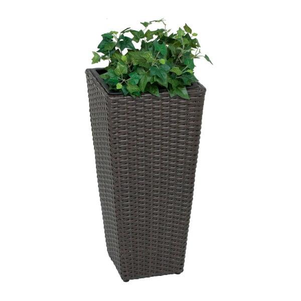 Tmavosivý záhradný kvetináč ADDU Planter, výška 60 cm