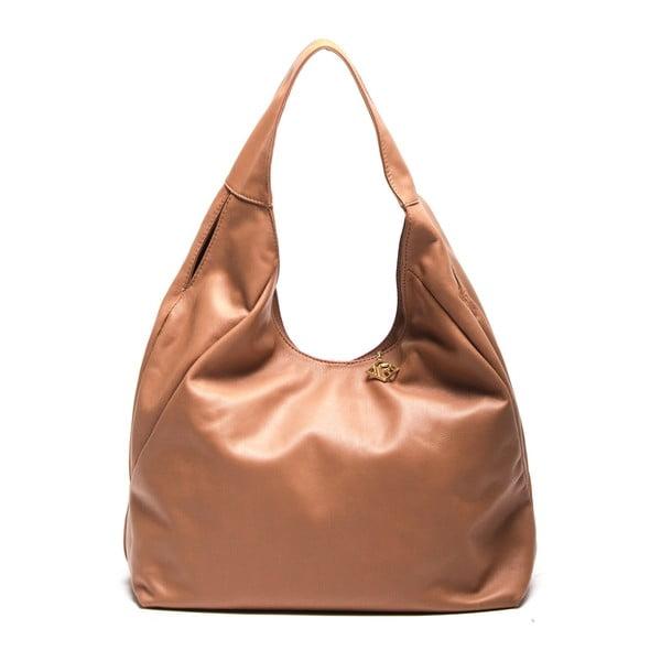 Kožená kabelka Tote 2106 Cognac