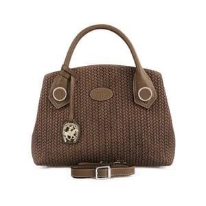 Hnedá kožená kabelka Beverly Hills Polo Club Monica